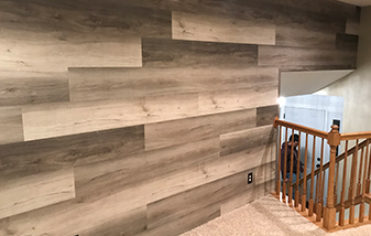 Luxury Vinyl Accent Wall by Erskine Floors and Interiors