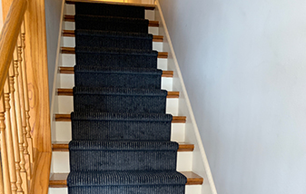 Wood Treads with new stair runner