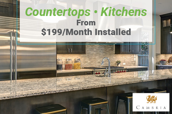 Countertops - Kitchens from $199/month installed at Erskine Interiors