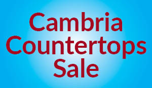 Free undermount sink with your Cambria kitchen countertop purchase during the Summer Sale at Erskine Interiors!
