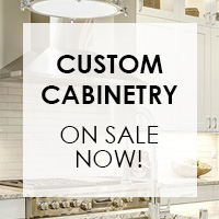 Custom cabinetry on sale now!