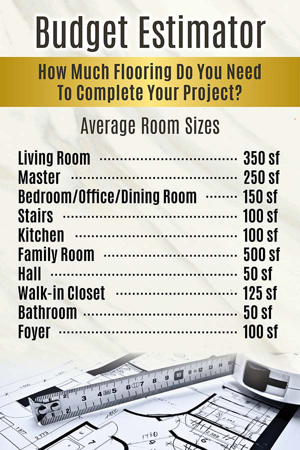 Flooring Estimator - How much flooring do you need to complete your project?