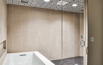 Show stopping shower. The wow statement of the house.