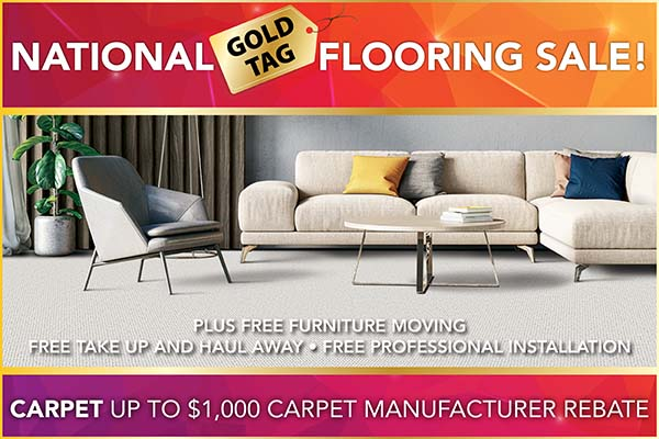 National Gold Tag Flooring Sale - Carpet Sale at Erskine Interiors