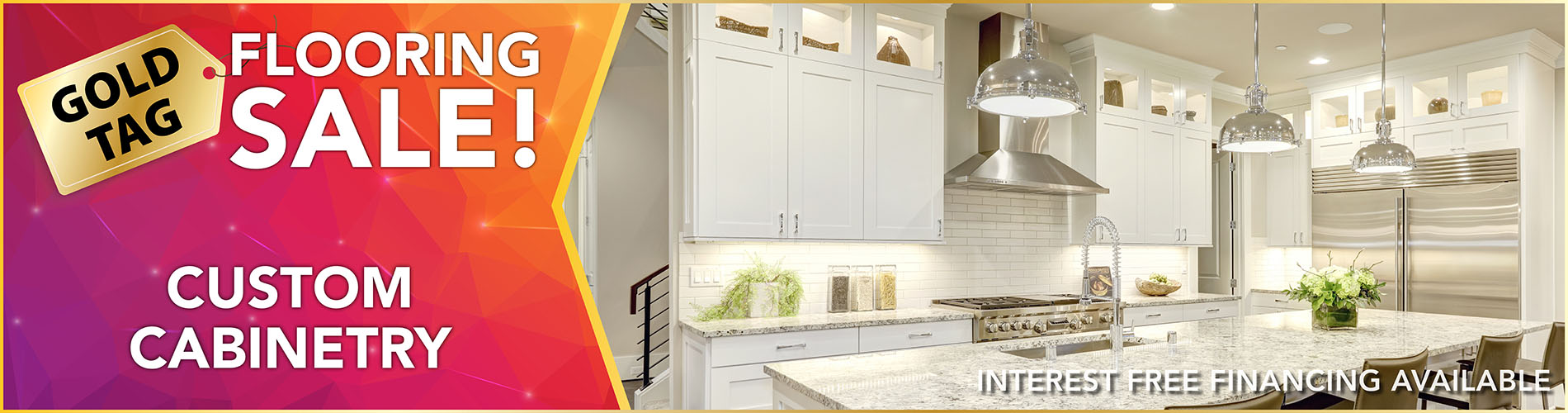 National Gold Tag Flooring Sale - Custom Cabinetry at Erskine Interiors